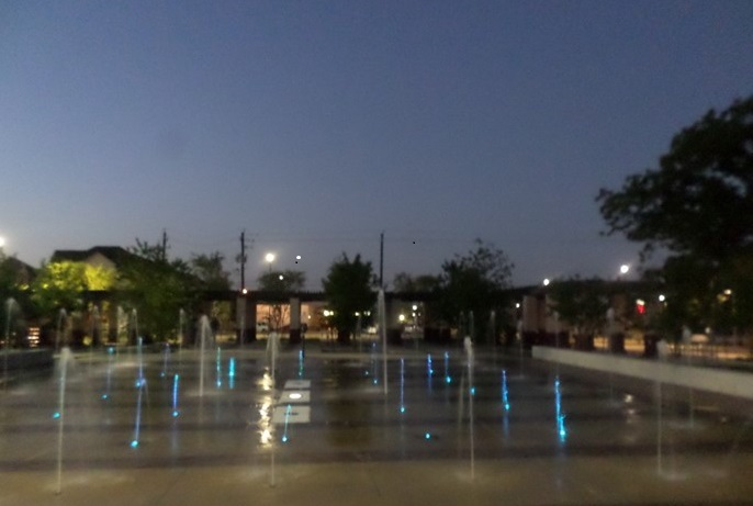 Splash Pad at Night